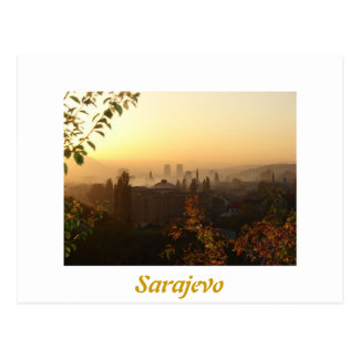 Sarajevo in the morning postcard