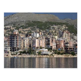 Sarande town in Albania Postcard