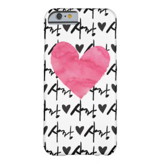 Sarang Love Pink Heart Case - Korean Hangul Script