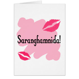 Saranghamnida - Korean I love you Card