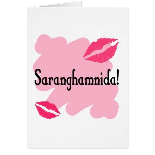 Saranghamnida - Korean I love you Card