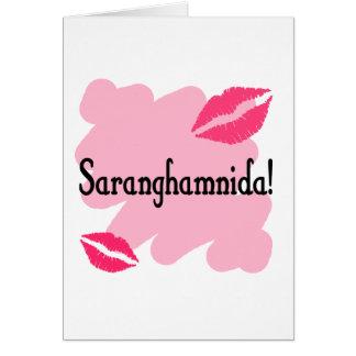 Saranghamnida - Korean I love you Greeting Card
