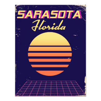 Sarasota Florida 1980s vintage travel print. Photo Print