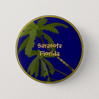 Sarasota, Florida palm tree button/lapel pin