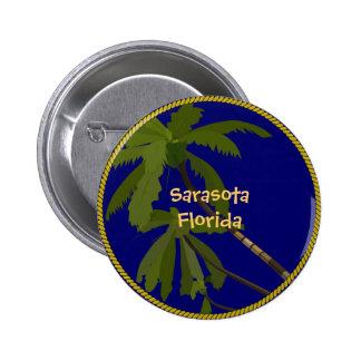Sarasota, Florida palm tree button/lapel pin
