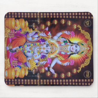 saraswati ganesh colorful  hindus mouse pad