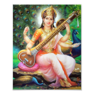 "Saraswati Print (8"" x 10"") - Version 1"