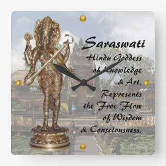 Saraswati Square Wall Clock