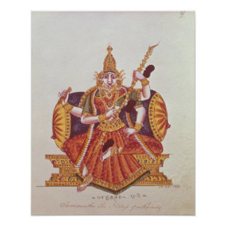 Saratheswathee, hindu goddess of learning poster