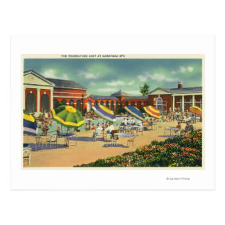 Saratoga Spa Recreation Unit View Postcard