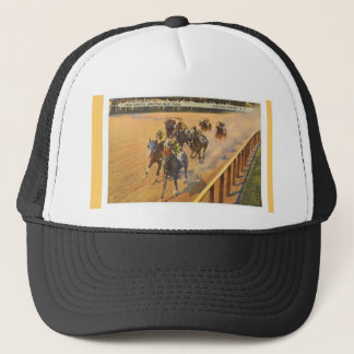 Saratoga Springs Horse Racing Trucker Hat