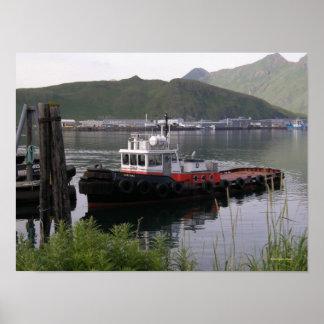 Saratoga Tugboat in Dutch Harbor, Alaska Poster