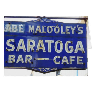 Saratoga Vintage restaurant sign, Terre Haute, IN Greeting Card