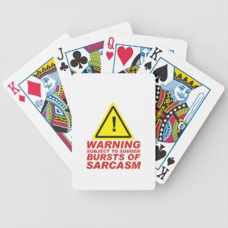 Sarcasm Bicycle Playing Cards