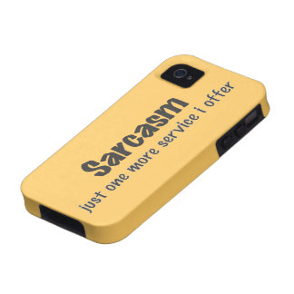 Sarcasm Case-Mate iPhone 4 Covers