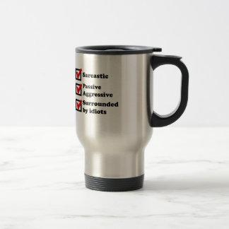 Sarcasm Checklist 15 Oz Stainless Steel Travel Mug