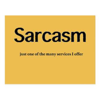 Sarcasm Services Postcard