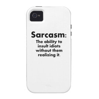 Sarcasm: The Ability To Insult Idiots iPhone 4 Cover