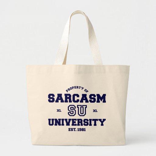 Sarcasm University Canvas Bag