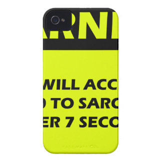 Sarcasm Warning iPhone 4 Cover