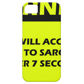 Sarcasm Warning iPhone 5 Cover
