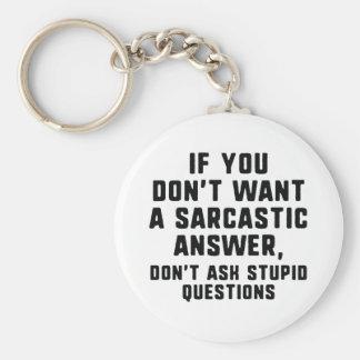 Sarcastic Answer Key Ring