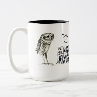 Sarcastic owl - right hand Two-Tone mug