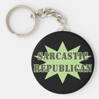Sarcastic Republican Key Ring