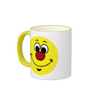 Sarcastic Smiley Face Grumpey Ringer Mug