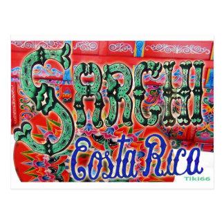 Sarchi Costa Rica Wagon Postcard