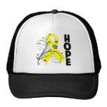 Sarcoma Cancer Floral Hope Ribbon Trucker Hat