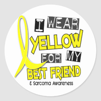 Sarcoma I WEAR YELLOW FOR MY BEST FRIEND 37 Sticker