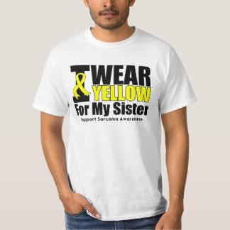 Sarcoma I Wear Yellow Ribbon For My Sister T-Shirt