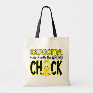 Sarcoma Messed With The Wrong Chick Budget Tote Bag