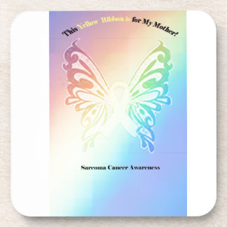 Sarcoma Moms are as Pretty As A Butterfly Beverage Coasters