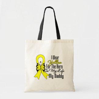 Sarcoma Ribbon My Hero My Daddy Bag