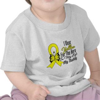 Sarcoma Ribbon My Hero My Daddy T Shirts