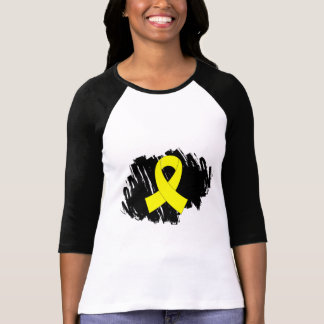 Sarcoma Yellow Ribbon With Scribble Tshirts