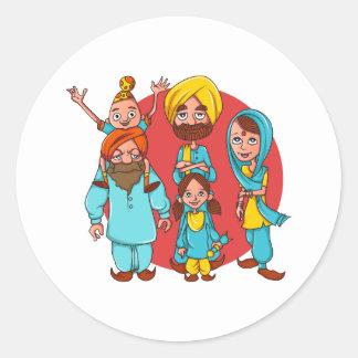 Sardar Ji And Family! Classic Round Sticker