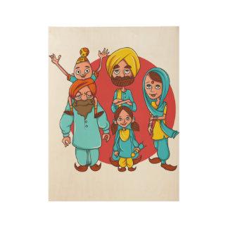 Sardar Ji And Family! Wood Poster