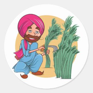 Sardar Ji Classic Round Sticker