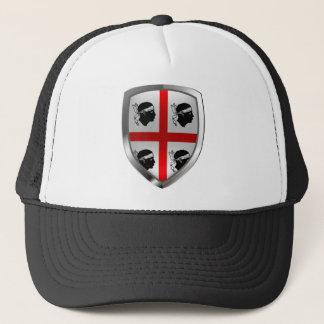 Sardegna Mettalic Emblem Trucker Hat