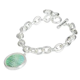 Sardinia Bangle Bracelet with Round Charm