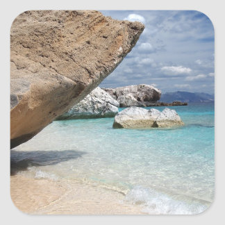 Sardinia beach with big rocks sticker