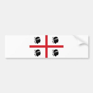 sardinia flag italy region island ethnic bumper sticker
