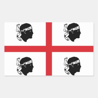 sardinia flag italy region island ethnic rectangular sticker