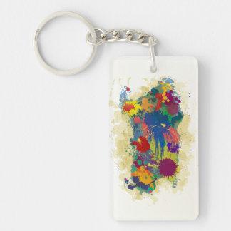 Sardinia, paint drops, Keychains