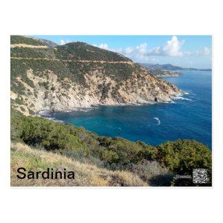 Sardinia panoramic view postcard