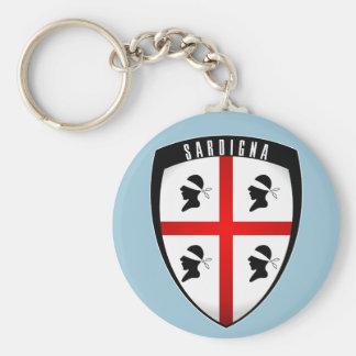 Sardinia, Shield Crest (light blue) Keychain