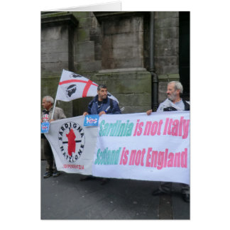 Sardinian Independence Campaigners in Scotland Card